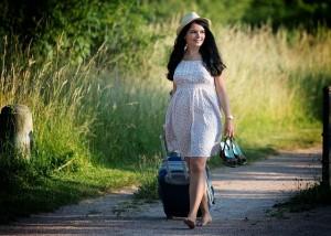Frau im Sommer
