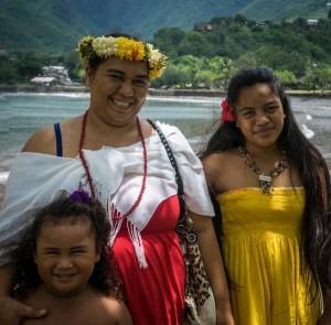 Polynesische Frau